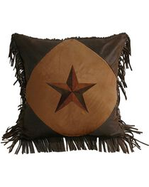 HiEnd Accents Laredo Star Fringe Pillow, , hi-res