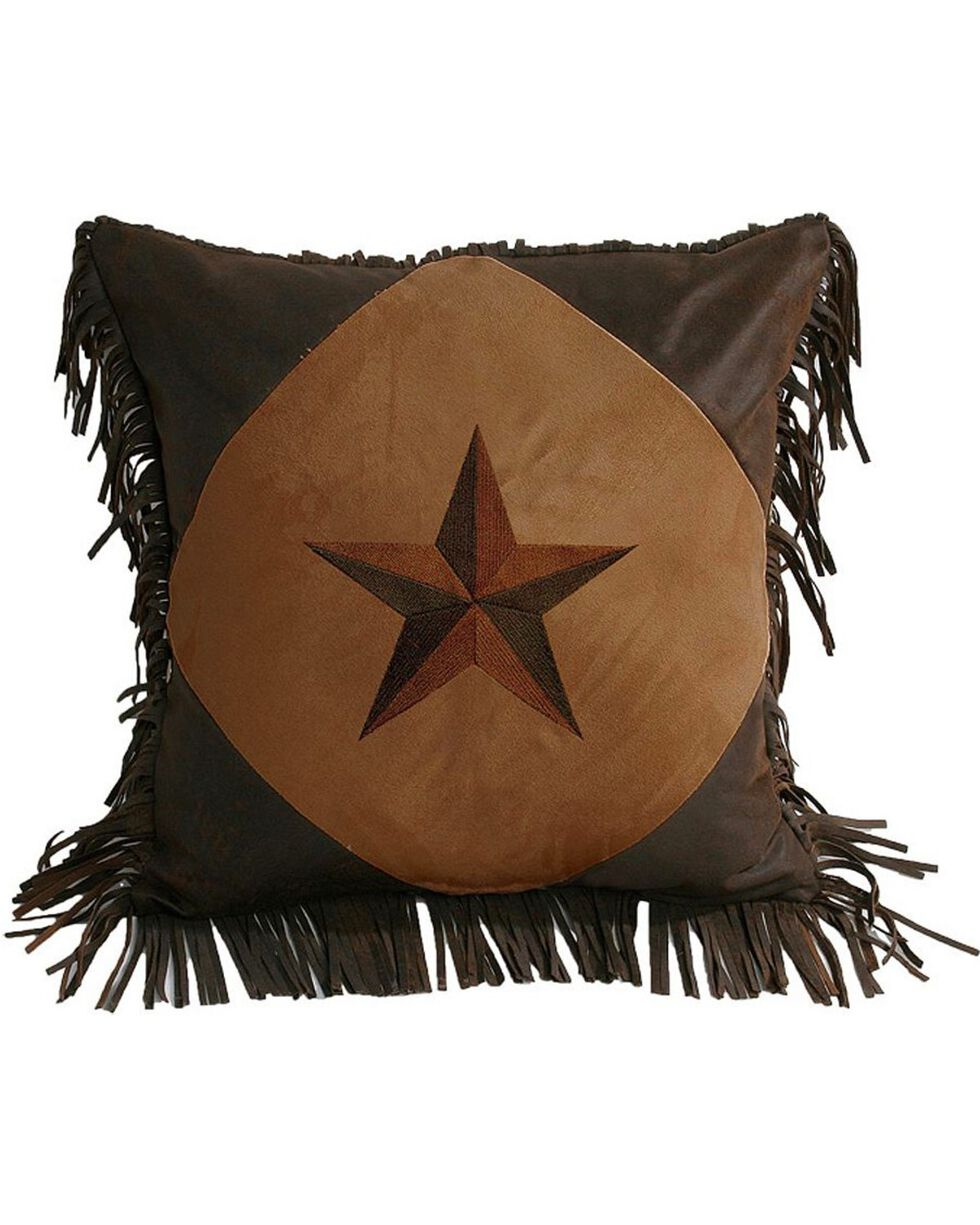 HiEnd Accents Laredo Star Fringe Pillow, Multi, hi-res