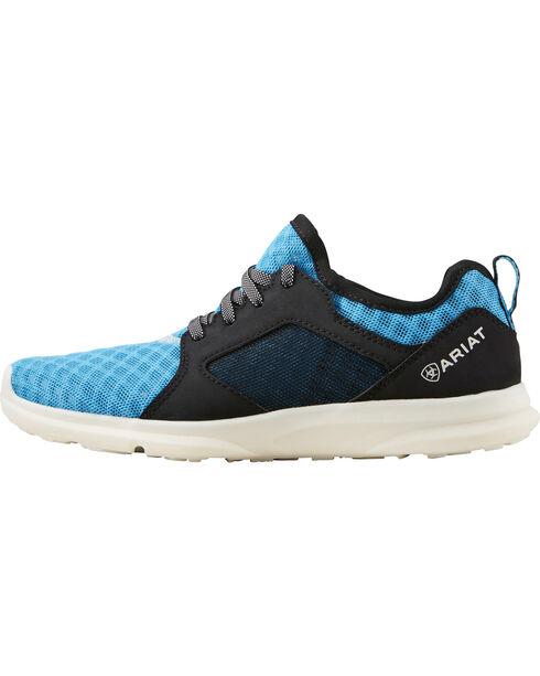 Ariat Boys' Fuse Highlighter Blue Mesh Shoes, Blue, hi-res
