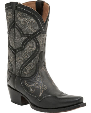 Lucchese Women's Audine Mosaic Western Boots, Black, hi-res
