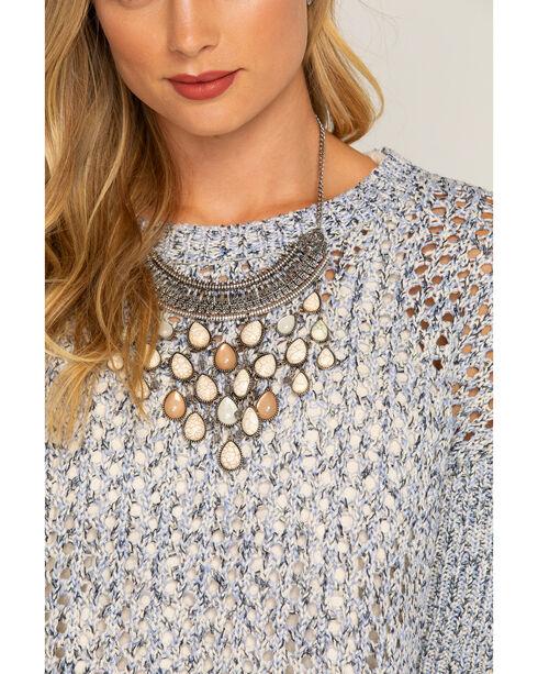 Shyanne Women's Sandstone Bib Necklace, Sand, hi-res