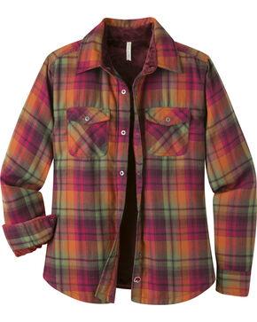 Mountain Khakis Women's Christi Fleece Lined Shirt, Burgundy, hi-res