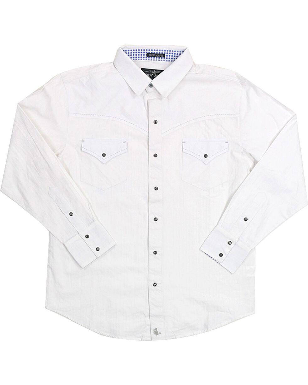 Cody James Men's Solid White Long Sleeve Shirt, , hi-res