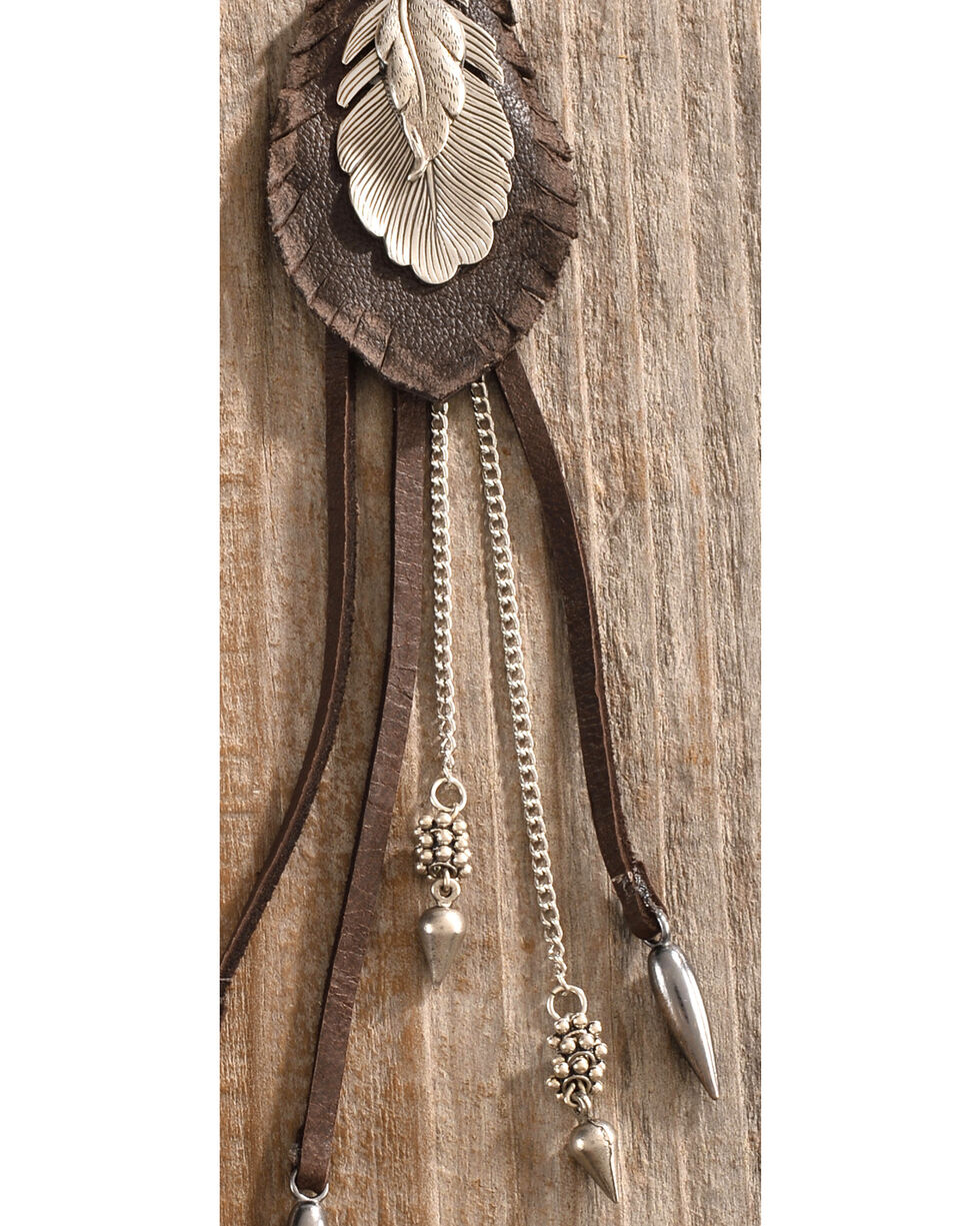 Cowgirl Confetti Women's Brown Wispy Feather Earrings , Brown, hi-res