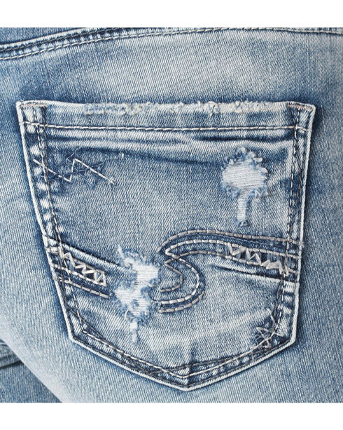 Silver Women's Indigo Avery Ankle Skinny Light Wash Jeans , Indigo, hi-res