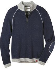 Mountain Khakis Men's Navy Fleck Quarter Zip Sweater  , , hi-res