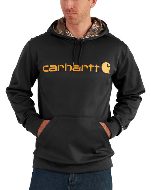 Carhartt Men's Force Extremes Signature Hooded Sweatshirt, Black, hi-res