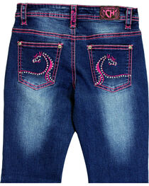 Cowgirl Hardware Toddler Girls' Swirl Horse Embroidered Jeans (12MO-6T), , hi-res