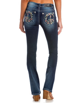 Miss Me Women's Indigo Peace and Harmony Jeans - Slim Boot Cut , Indigo, hi-res
