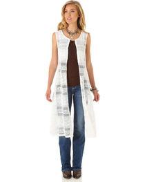 Wrangler Women's Sleeveless Crochet Fashion Duster, , hi-res