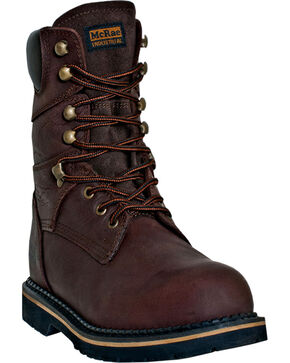 "McRae Industrial Men's Ruff Rider 8"" Work Boots, Dark Brown, hi-res"