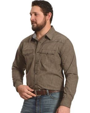 Cody James Men's Leadville Long Sleeve Shirt, Brown, hi-res