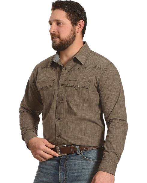 Cody James Men's Leadville Long Sleeve Shirt, Brown, hi-res