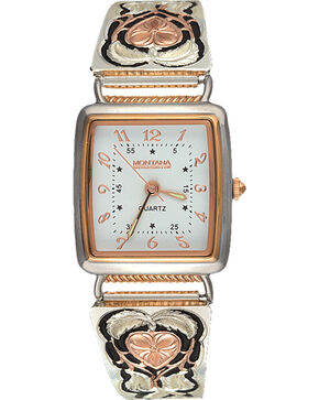 Montana Silversmiths Hearts of Gold Expansion Band Watch, Multi, hi-res