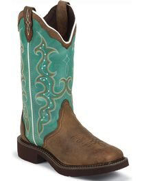 Justin Gypsy Women's Square Toe Barnwood Western Boots, , hi-res