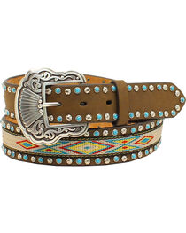 Nocona Women's Aztec Embellished Belt, , hi-res