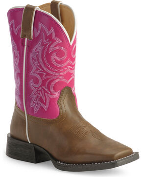 Durango's Kid's Lil Partners Cowgirl Boots, Tan, hi-res