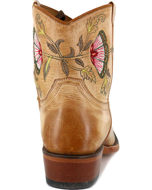 Shyanne® Women's Floral Embroidered Western Booties, Tan, hi-res