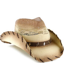 Cody James® Saddle Straw Cowboy Hat, , hi-res