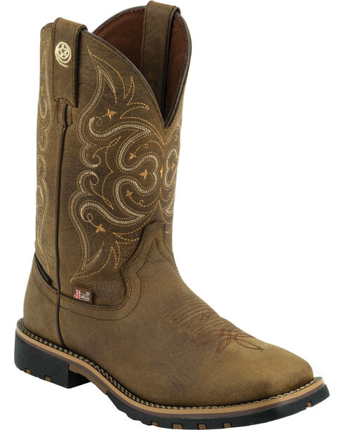 George Strait by Justin Women's Western Boots, Barnwood, hi-res
