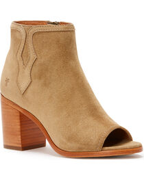 Frye Women's Sand Danica Peep Booties - Round Toe , , hi-res