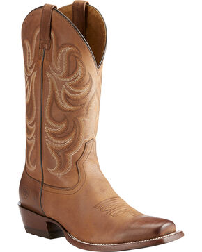 Ariat Men's Taupe Turnback Tarnation Boots - Square Toe , Taupe, hi-res