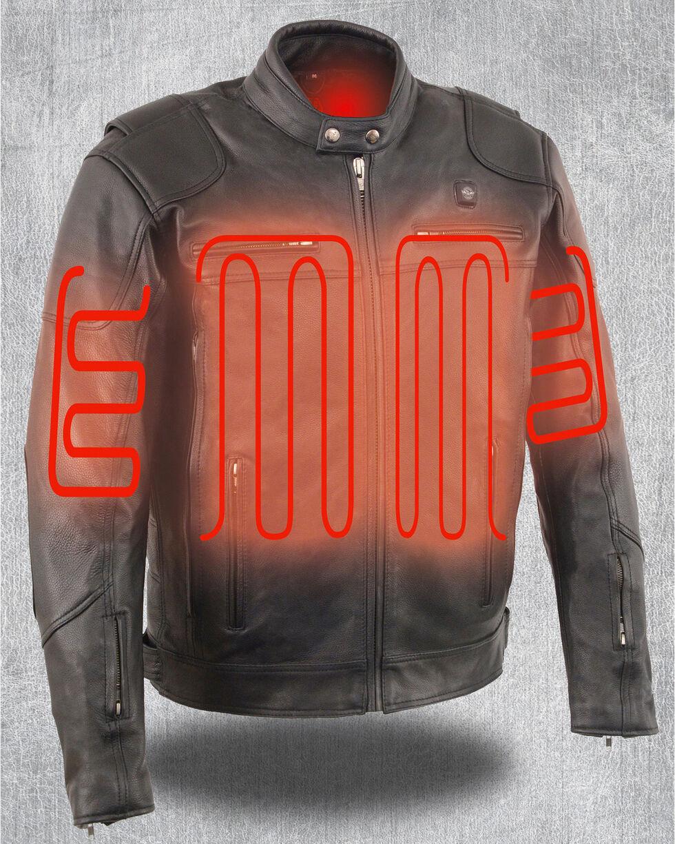 Milwaukee Leather Men's Heated Scooter Jacket, Black, hi-res