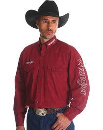 Wrangler Men's Red Western Logo Long Sleeve Shirt - Tall, , hi-res