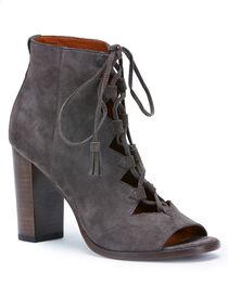 Frye Women's Grey Gabby Ghillie Booties - Round Toe , , hi-res