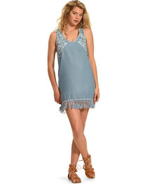 Polagram Women's Tassel Hem Dress , , hi-res