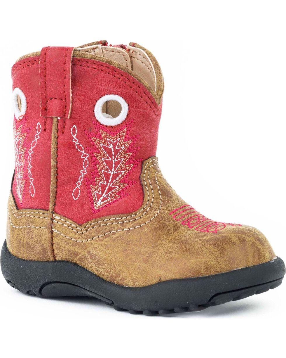 Roper Infant Boys' Cowbaby Red Hole In The Walk Boots - Round Toe, , hi-res