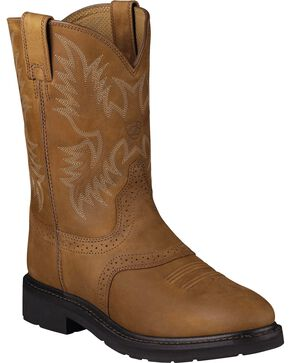 Ariat Men's Sierra Saddle Work Boots, Aged Bark, hi-res