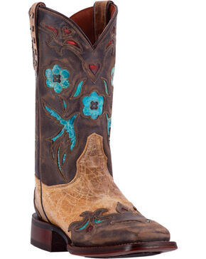 Dan Post Women's CC Bluebird Western Boots, Khaki, hi-res