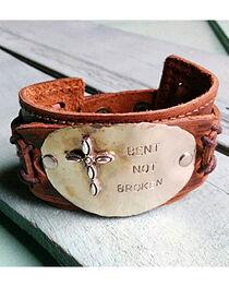 """Jewelry Junkie """"Bent Not Broken"""" Cuff Bracelet, , hi-res"""