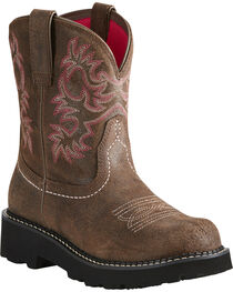 Ariat Fatbaby Women's Pink Stitching Cowgirl Boots - Round Toe, , hi-res