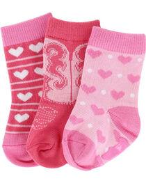 Lil' Boot Barn® Infant Girls' Heart Sock Set, , hi-res
