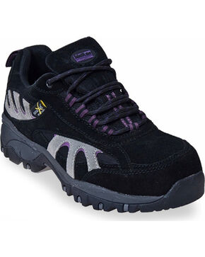 Mcrae Women's Industrial Steel Toe Hiking Boots, Black, hi-res