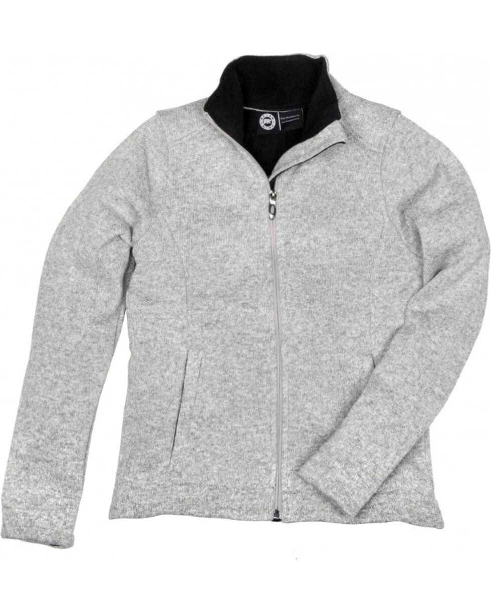 Key Women's Oatmeal Sweater Knit Jacket, Oatmeal, hi-res
