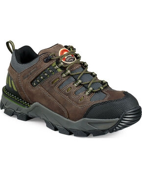 Red Wing Irish Setter Two Harbors Hiker Work Boots - Aluminum Toe , Grey, hi-res