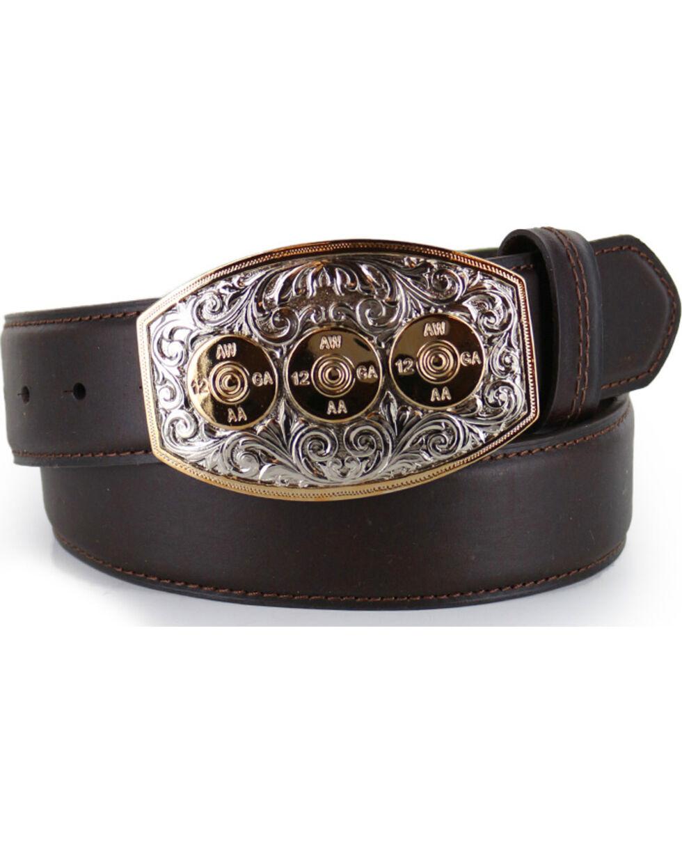 Cody James® Bullet Leather Belt, Brown, hi-res