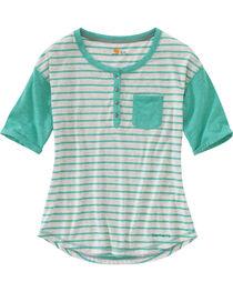 Carhartt Women's Spearmint Reagan Henley Shirt , , hi-res