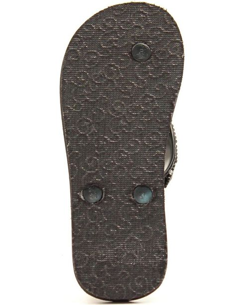 Blazin Roxx Girls' Black Journi Flip Flops, Black, hi-res