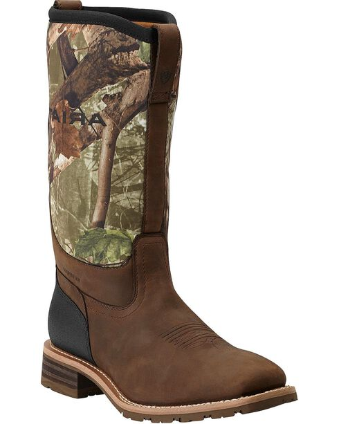 Ariat Men's Hybrid All Weather WP Broad Square Western Boots, , hi-res