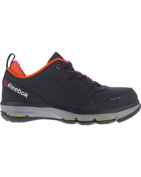 Reebok Men's Leather Athletic Oxfords - Alloy Toe, Black, hi-res