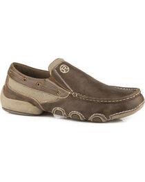 Roper Men's Tan Driving Moc Boat Shoes, , hi-res