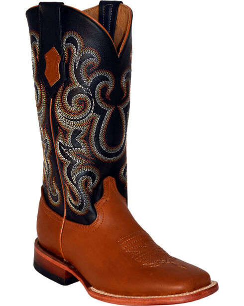 Ferrini Women's Floral Embroidery Western Boots, Cognac, hi-res