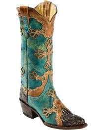 Ferrini Women's Embossed Diva Western Boots, , hi-res