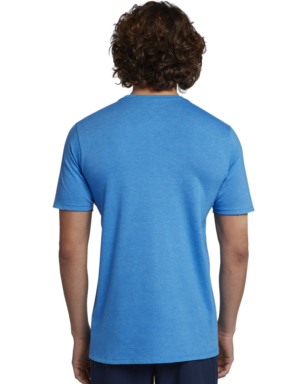 Hurley Men's Light Blue Heather Icon Push Through T-Shirt, Light Blue, hi-res