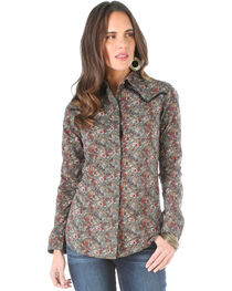 Wrangler Women's Floral Pattern Long Sleeve Shirt , , hi-res