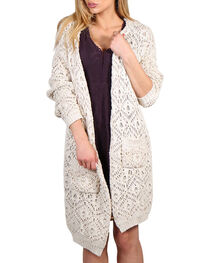 Petrol Women's Oversized Open Front Cardigan, , hi-res
